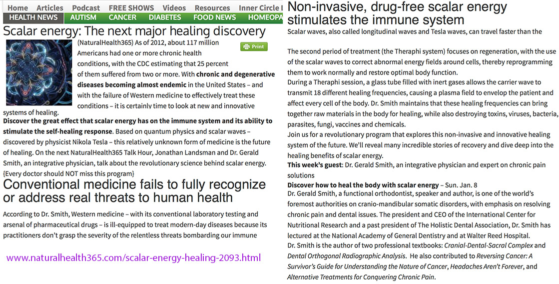 Dr Gerald Smith on Scalar Energy Healing - Theraphi™